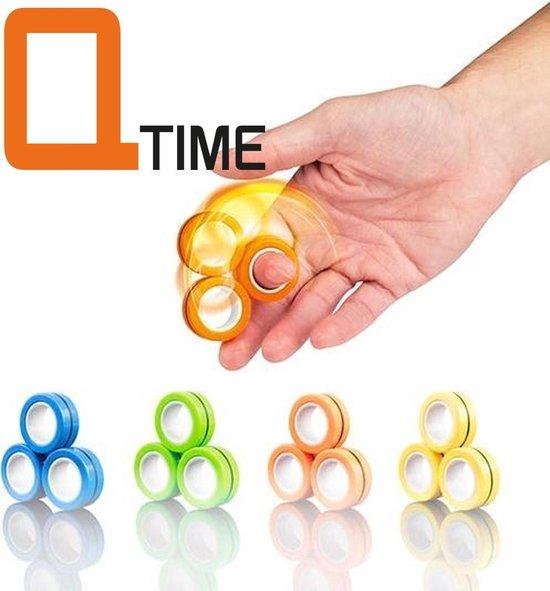 Magneet Vinger Spinner - Magnetische ringen - Finger Spinner - Spinner - Magneet Spinner - Fidget Magnet Spinner – Fidget toy - ook op TIK TOK