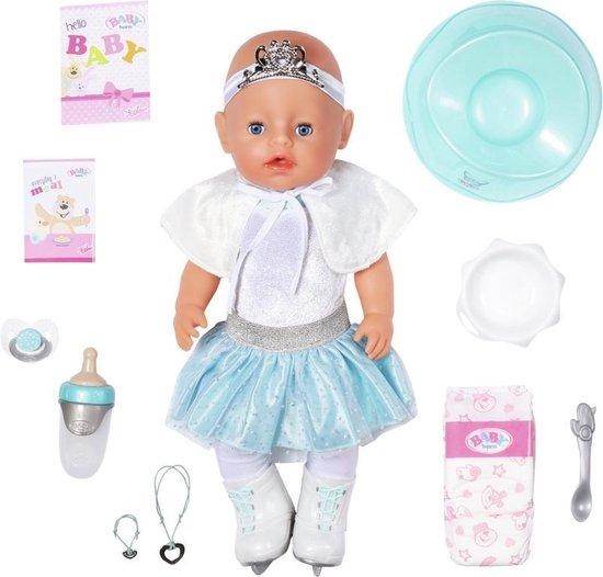 BABY born® Soft Touch IJsballerina Meisje - Interactieve Babypop 43 cm