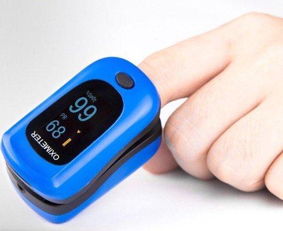 Saturatiemeter - Blauw Strong | Oximeter | LED-display | Finger pulse