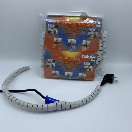 Kabel systeem Spiraalslang  met rijgtool -  2meter