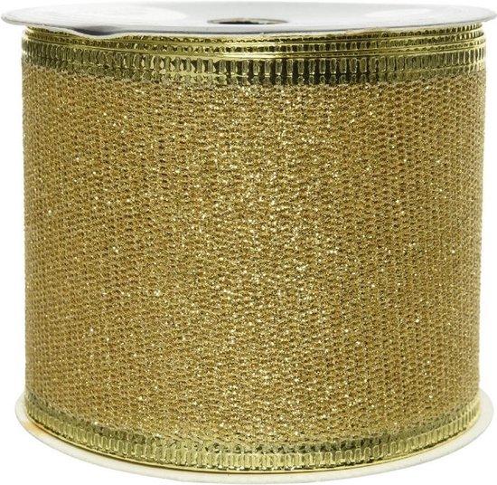 Bol Com 2x Rolletjes Glitter Lint Gaas Goud 270 X 6 Cm Decoratie Gaas Lint