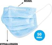 Mondkapjes 50 stuks - met beugel - 3 laags - hypoallergeen (niet-irriterend) - wegwerp mondmasker - niet-medisch