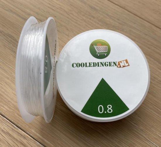 1 Rol Elastisch Draad- Sieraden Maken- 0.8 mm- 7 meter- Transparant Draad - Kralen Draad - Hobby Draad - Nylon Draad - Rijgdraad