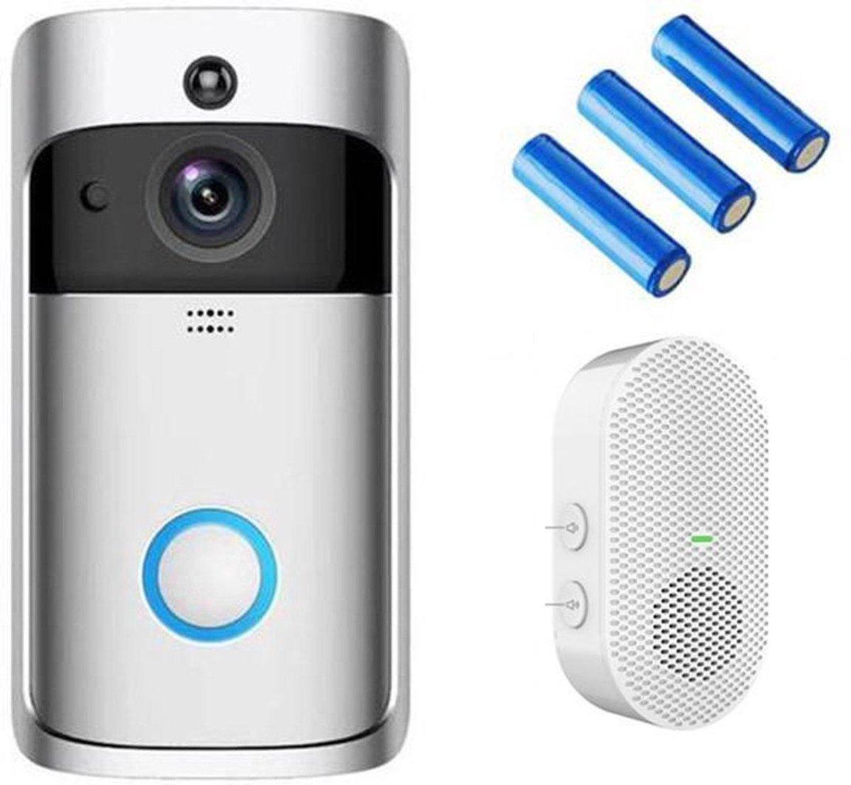 EKEN V5 video deurbel met camera + inclusief Oplaadbare Batterijen + Inclusief Gong + Nederlandse ge