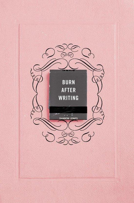 Boek cover Burn After Writing (Pink) van Jones Sharon (Paperback)