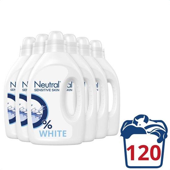 Neutral 0% Wit Parfumvrij Wasmiddel - 6 x 20 wasbeurten - Voordeelverpakking.