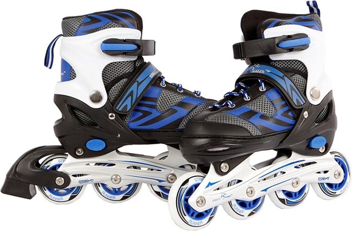 Inline Skates Blauw 34-37 - Skates Jongens Verstelbaar