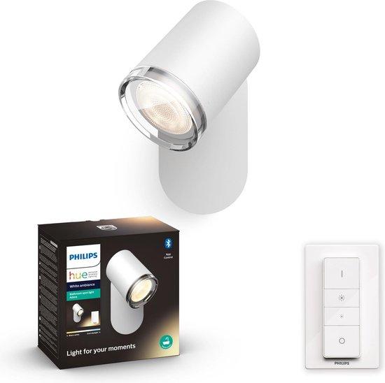 Philips Hue Adore badkameropbouwspot - warm tot koelwit licht - 1-lichts - wit