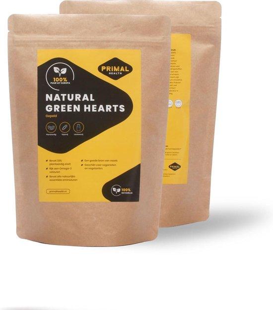 Primal Health Natural Green Hearts - Gepeld Hennepzaad - Zaden - Plantaardig - Bio - uit Europa - 500 gram