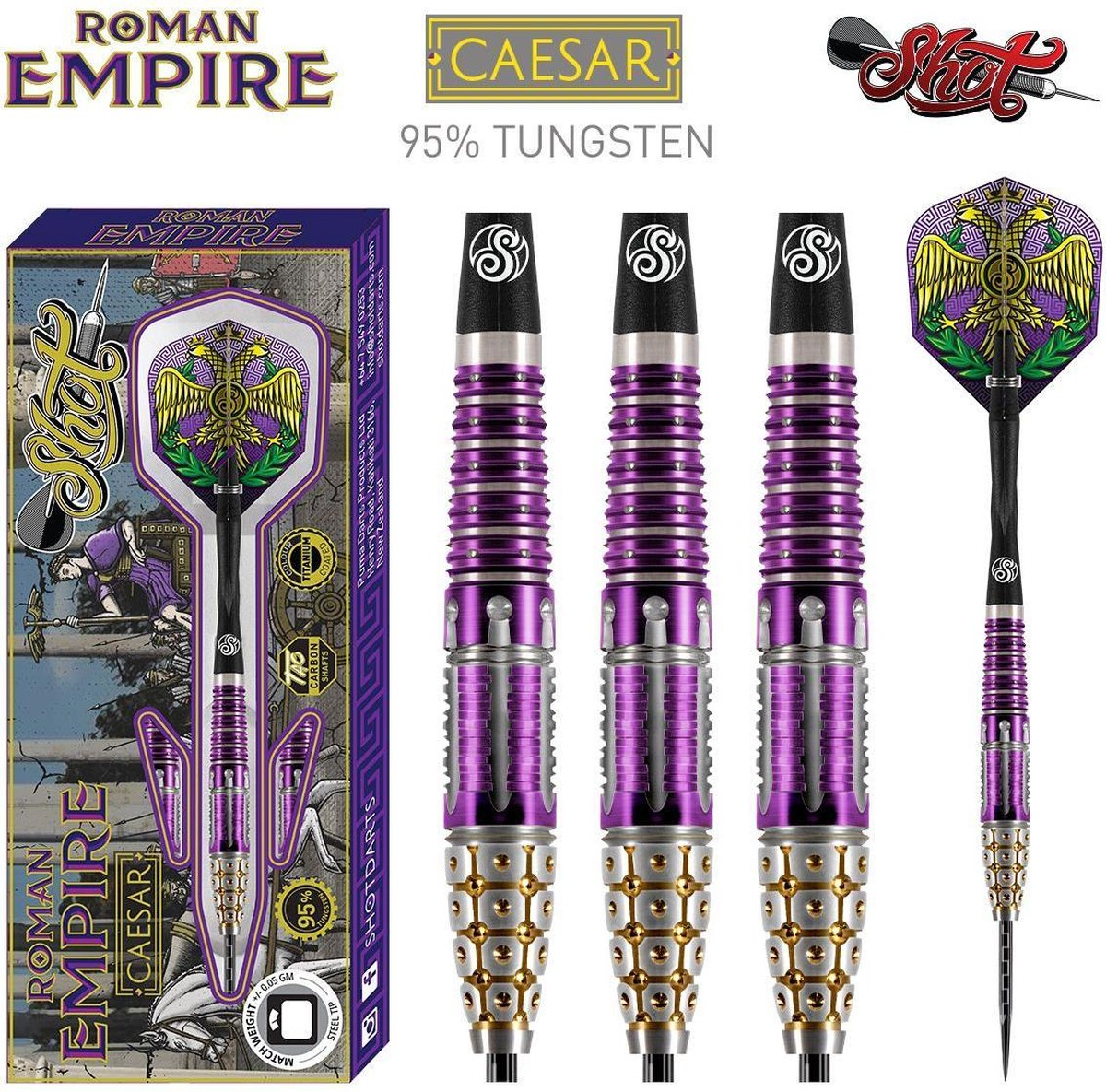 Roman Empire Caesar 95% Tungsten Titanium Coated 22 gram