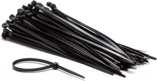bol.com | Kabelbinders (1000 stuks) Tyraps Zwart 200 mm x 3.6 mm per 1000 stuks (tie wraps, ty...