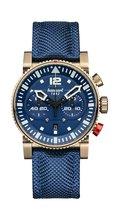Hanhart PRIMUS Nautic Pilot Bronze Horloge LIMITED EDITION  Blauw, blauwe band