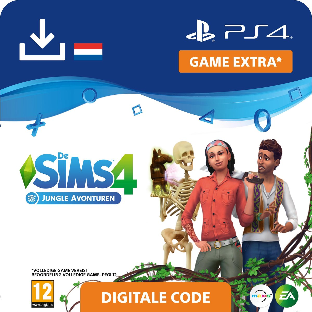 De Sims 4 - uitbreidingsset - Jungle Avonturen - NL - PS4 download