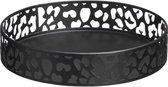 Dienblad luipaard / zwart / panter / decoratie / metaal / woonaccessoires / dierenprint / 25 cm