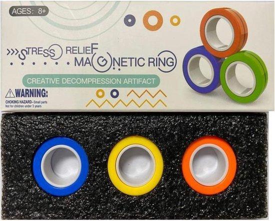 Thumbnail van een extra afbeelding van het spel Stress Magnetische Ringen Voor Autisme Adhd/Angst, Focus - Kids - Decompressie - Fidget-Speelgoed – Stress-Speelgoed