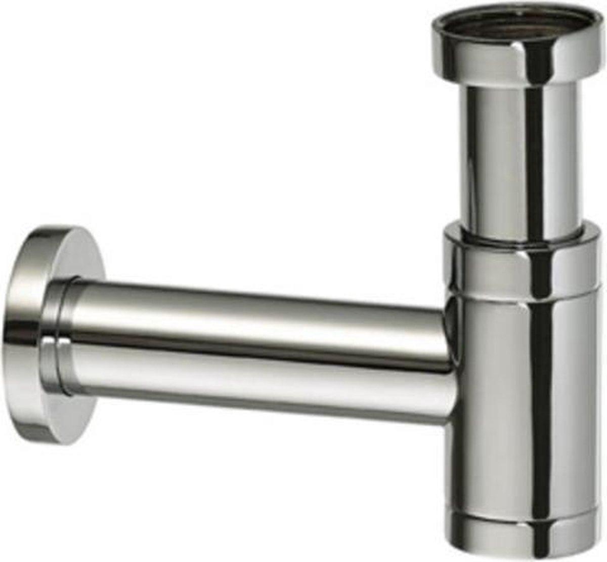 Raminex Slim designsifon voor fontein 1 1/4 x32mm RVS look