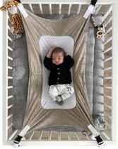 Baby Hangmat - Box Hangmat - Premium Fleece & Mesh - Babyhangmat Taupe