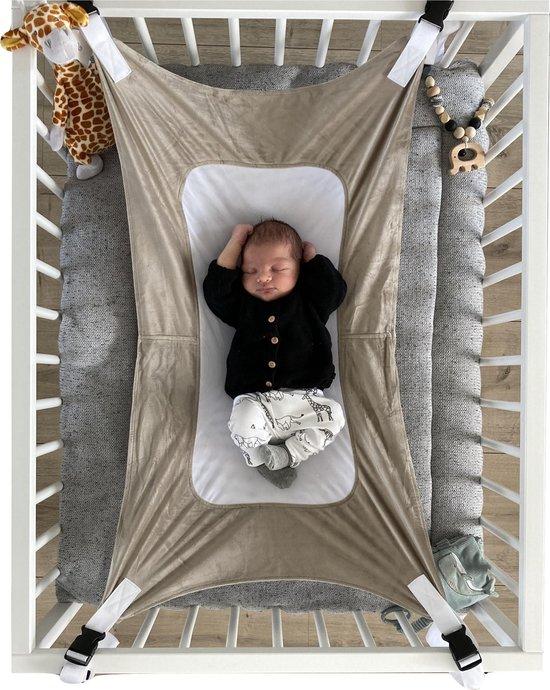 Product: Baby Hangmat - Box Hangmat - Premium Fleece & Mesh - Babyhangmat Taupe, van het merk Merkloos