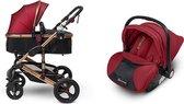Mio Amore 3 in 1 kinderwagen Veneto incl. autostoel (Rood)