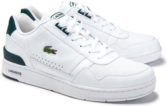 Lacoste T-Clip 0120 4 SMA Heren Sneakers - White/Dark Green - Maat 43