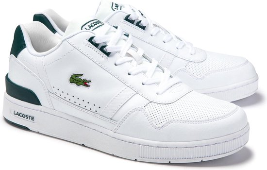 Lacoste T-Clip 0120 4 SMA Heren Sneakers - White/Dark Green - Maat 41