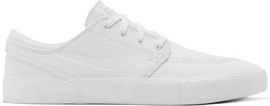 Nike Sb Zoom Stefan Janoski Rm Premium Heren Sneakers - White/White-White - Maat 42.5