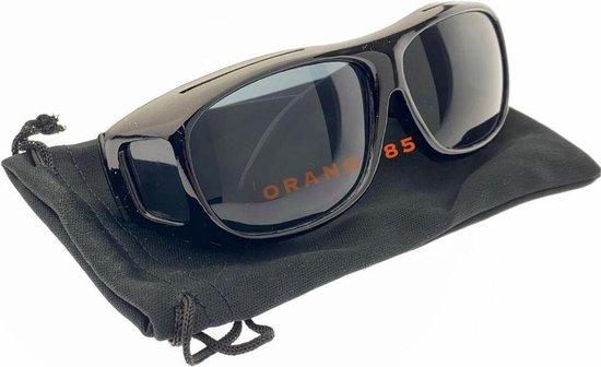 Orange85 Overzetzonnebril - Zwart - Mannen en vrouwen - Inclusief hoesje - Over je eigen bril - One size