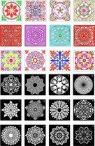 Happy Painter® Mandala dot painting sjablonen 24 stuks  15x15cm    stippen   dotting art