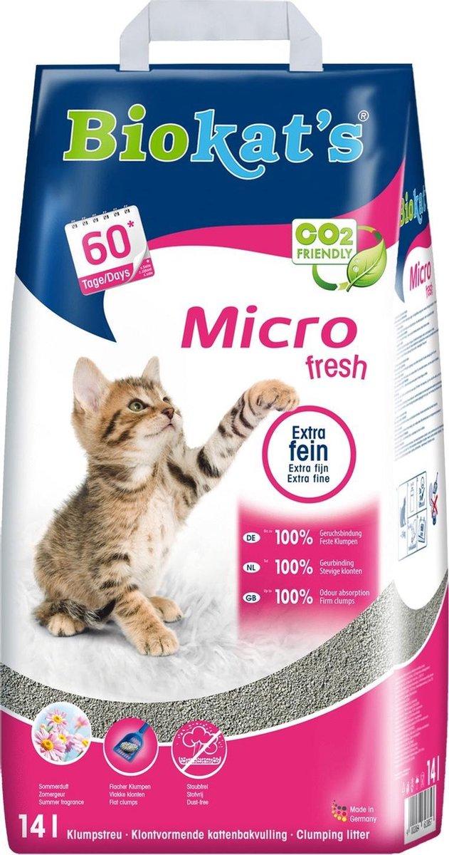Biokat's Micro Fresh Zomergeur - Kattenbakvulling - 14 L