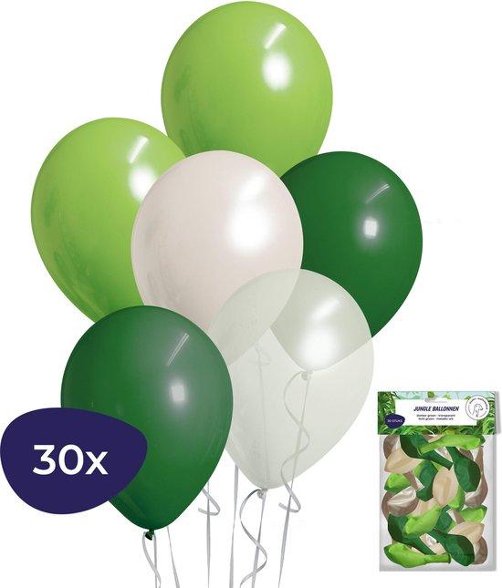 Jungle Decoratie - Jungle Versiering - Jungle Ballonnen - Verjaardag Versiering - Helium Ballonnen - 30 stuks