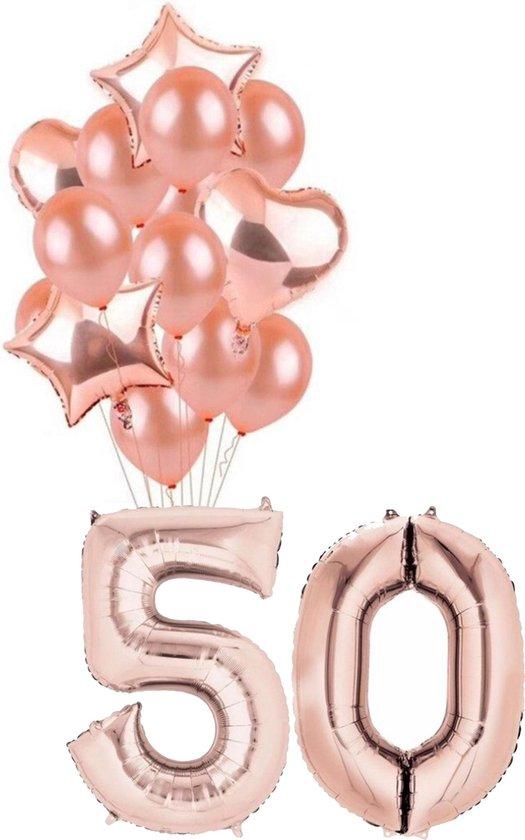 Ballonnen 50 jaar - Rosé - 1 meter - set van 16