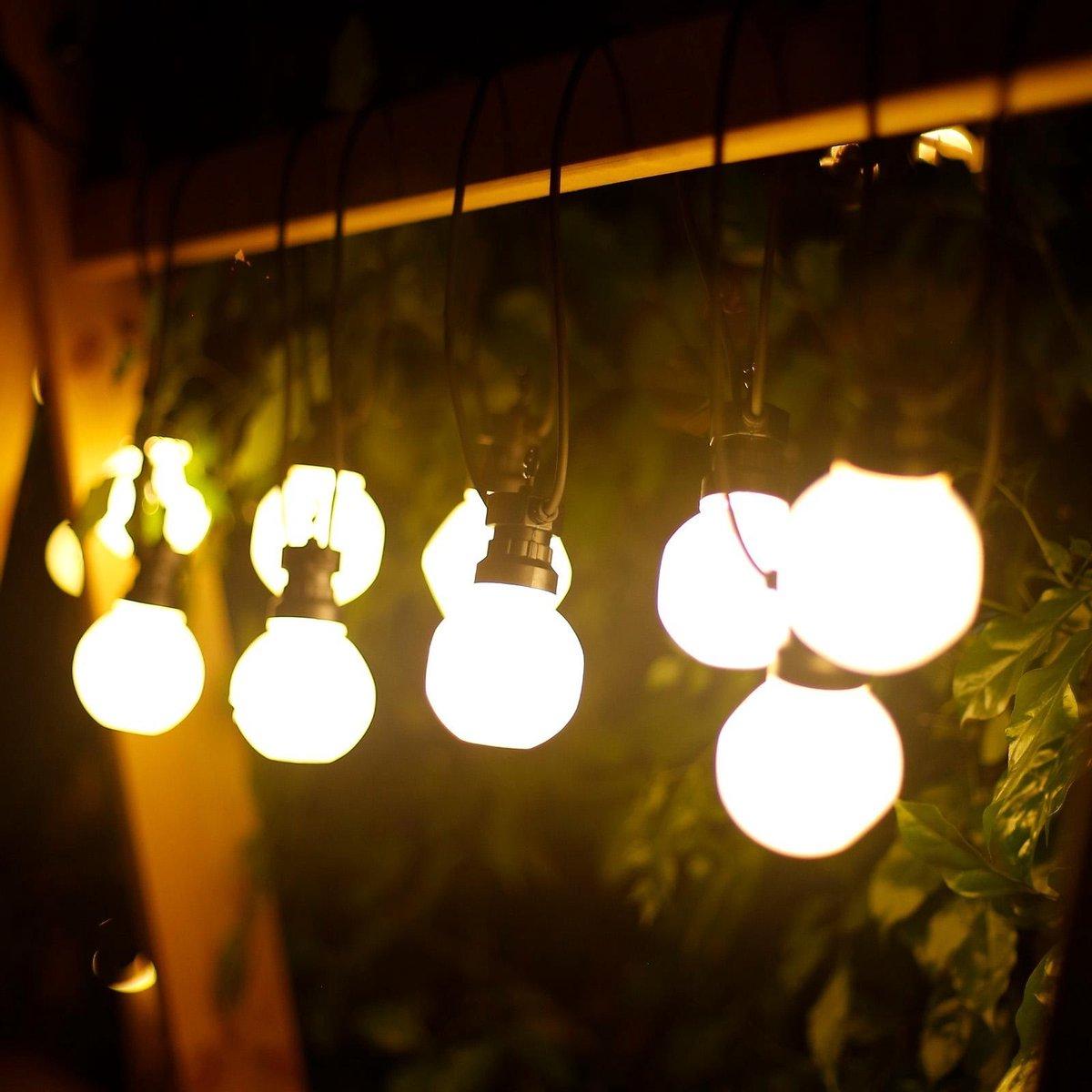 Aigostar Lichtsnoer - Lichtslinger - LED Lampjes Slinger - 10 Milky LED - 3000K Warm wit - 8 Meter