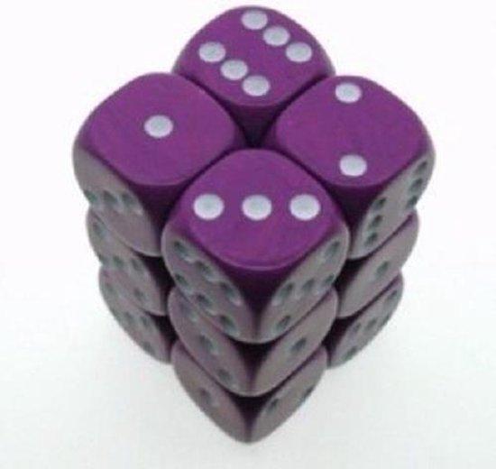 Afbeelding van het spel paarse dobbelstenen 6 stuks van 16mm