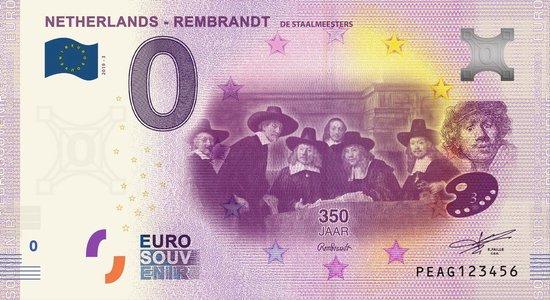 Afbeelding van het spel 0 Euro Biljet 2019 - Rembrandt - de Staalmeesters