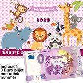 0 Euro biljet Nederland 2020 - Baby's eerste bankbiljet in cadeauverpakking meisje