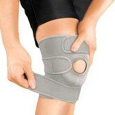 Bracoo KS10 Kniebandage - verstelbare neopreen kniebrace - rechter/linker knie - patella stabilisator opening - grijs