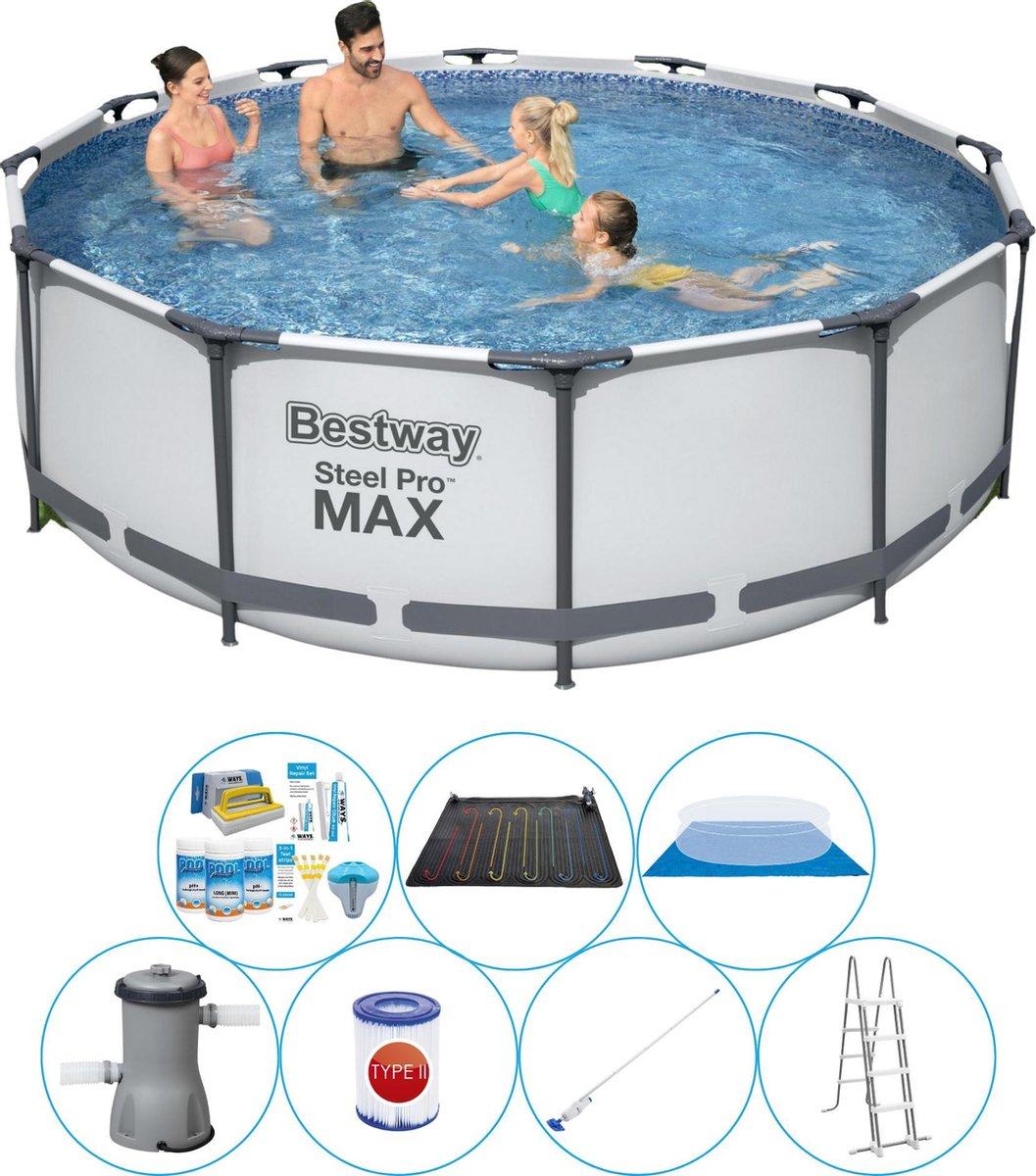 Bestway Steel Pro MAX Rond 366x100 cm - 8-delig - Zwembad Set
