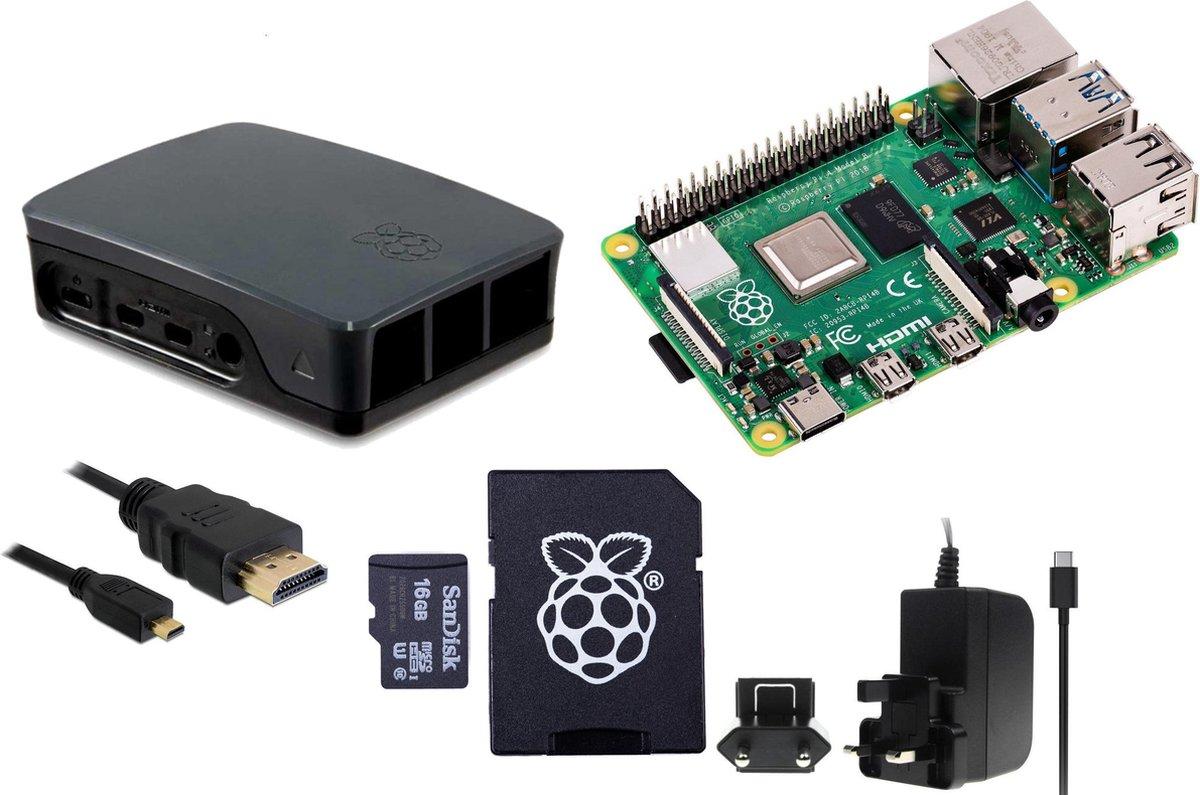 Raspberry Pi 4 - 4Gb - StarterPack - Zwart