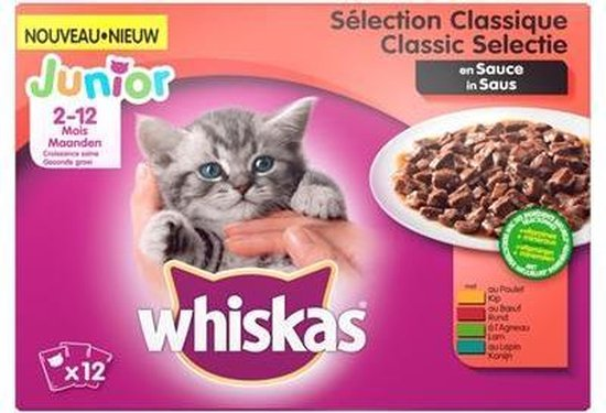 Whiskas Junior Kitten Maaltijdzakjes - 48 x 100 g