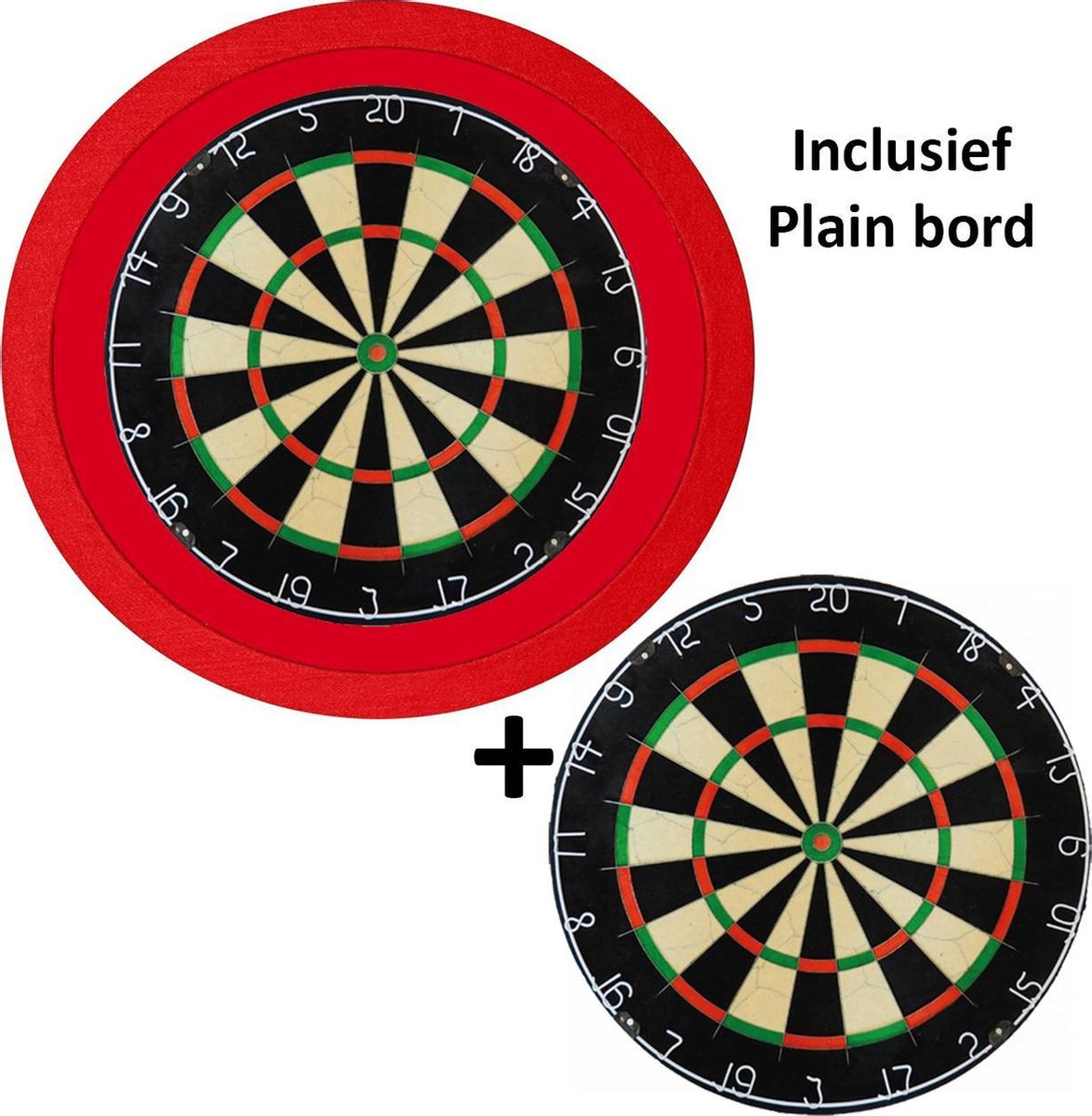 Dragon Darts - TCB X-Ray 3.0 Luxe - dartbord verlichting - surround - inclusief plain - dartbord - rood