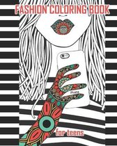 Fashion coloring book for teens
