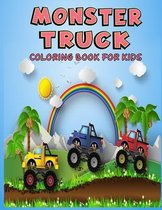 Monster Truck Coloring Book For Kids: Coloring Book for Kids Ages 4-8