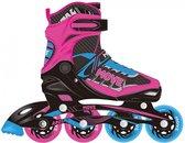Move Inlineskates - Maat 34-37 - Unisex - roze/zwart/blauw