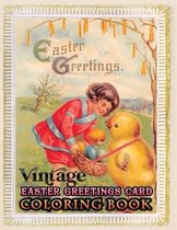 vintage Easter greetings card coloring book