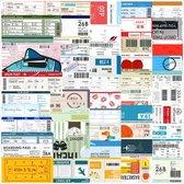 Sticker mix met Reis tickets en Boarding Pass - 50 stickers voor laptop, vision board, reis journal, agenda etc.