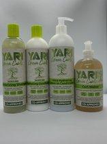 Yari Green Curls. Shampoo, conditioner, ultra leave in, curlmaker, cg methode