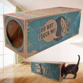 Make Me Purr Kattentunnel van Karton (Bruin) - Speelgoed Tunnel voor Katten - Kat Speeltunnel - Kartonnen Kitten Speeltje - Kattenspeelgoed - Kattenspeeltjes