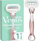 Gillette Venus Deluxe Smooth Sensitive RoseGold Scheersysteem Voor Vrouwen - Scheermes