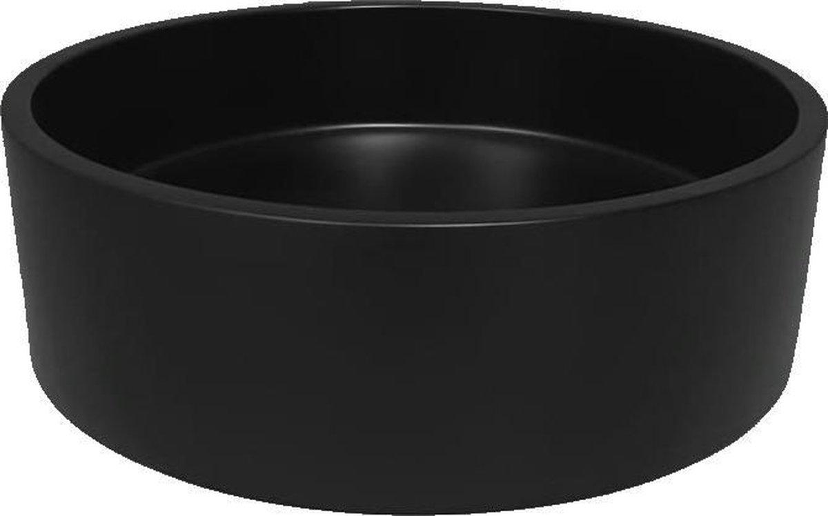 Ronde composiet opzet waskom ø37,5cm Sevilla nero