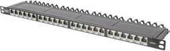 Digitus DN-91624S-SL-EA 24 poorten Netwerk-patchpaneel CAT 6A 0.5 HE